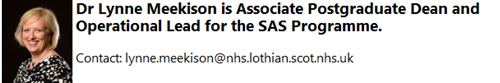 Dr Lynne Meekison is APGD for SAS Programme