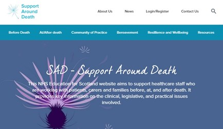 Support Around Death homepage image